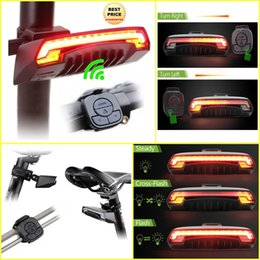 Wholesale Bicycle Turn Signals Led - Drop Shipping 2017 Hot Bicycle Bike Indicator Turn Signal LED Tail Light Wireless Remote Control Bicycle Accessories W30