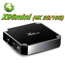 Wholesale Wifi Hd Satellite Receivers - X96 mini Android 7.1.2 TV BOX Amlogic S905W 64 bit Quad Core WIFI 4K satellite tv receiver IPTV Smart TV Set-top