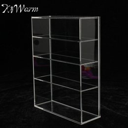 Wholesale Jewelry Plastic Bottles - Wholesale-KiWarm High Gloss Acrylic Display Box Show Case Sliding Door for Mini Perfume Bottle Jewelry Crafts Display For Home Shop Decor