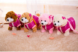 Wholesale best sing - Beautiful fashion electronic music pet teddy dog plush toy Can sing 10 songs Can swing toys baby kids best friend christmas gift