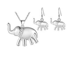Argentina Mujeres moda nuevo s925 plata esterlina joyería animal plateada conjunto elefante hueco Tortuga caballo serpiente pendientes pendientes collar conjunto 1 pcs Suministro