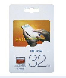 Wholesale memory pricing - Hot The lowest price cut Class10 EVO 128GB 64GB 32GB tf Memory Card C10 Flash SD Adapter White Orange Retail Package