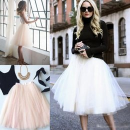 Wholesale silver tutu skirts - 2018 Short Bridesmaid Dresses A Line 5 Layers Tulle Tutu Skirt Womens Full Lining Prom Party Dress Plus Size Custom Made