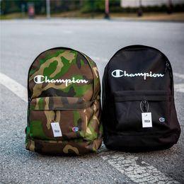 Wholesale black bowling bag - 2018 new arrival 2 colors champion backpack school bag fashion Street duffle bags men women sport backpacks travel outdoor bags
