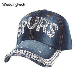 SPURS Carta Mujeres Gorra de béisbol Protección solar Bone Casquette  Sombreros Summer Mujer Gorras Snapback con diamantes de imitación Cowboy  Women s Cap ... 69d75aa1f82