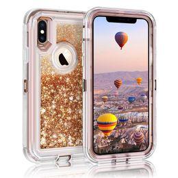 tampa da tampa iphone6 Desconto Para iphone xs xr caso líquido quicksand glitter bling capa casos de telefone de volta para o iphone xs max