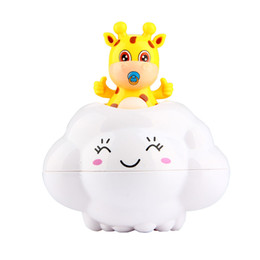 Wholesale Beach Drop - Baby Rain Clouds Toys Cartoon Deer Bathroom Shower Classic Beach Play Water Drop Toy for Kids Learning Educational Toy