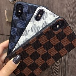 Wholesale Caso di telefono vintage marrone bianco blu scuro di lusso per iPhone xs xr x x Casi Plus X Custodia classica per iPhone Plus Cases