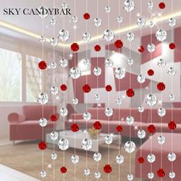Décoration de mariage en cristal bleu en Ligne-SKY CANDYBAR 10 mètres Crystal rideau de perles Pour salon partition rénovation Festive mode rideaux de décoration de mariage