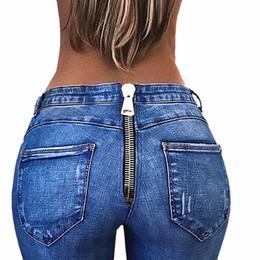 1b6ce79b726 2018 Push Up Jeans for Women Zipper Back Jeans Pants Sexy BuLifter Skinny  Woman Slim Leggings Femme Pencil Pants