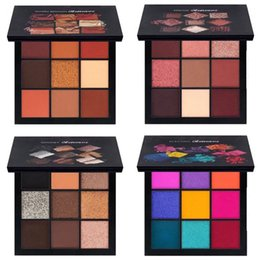Wholesale Palette Warm Shimmer - NEW HB obsessions matte Eye Shadow Palette 9 color Beauty eyeshadow palettes Makeup smokey mauve electric warm brown