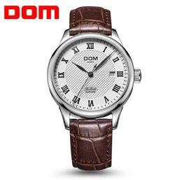 Wholesale Tungsten Pin - Leather Men Watch 2018 Top Brand Luxury Famous Auto Date Wristwatch Male Clock Waterproof Quartz Watch Relogio Masculino