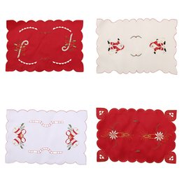 Wholesale Christmas Bells For Sale - Wholesale- Hot Sale 43x8cm Table Mats Christmas Decoration Santa Clause Bell Plate Mat Set Kitchen for Xmas Home Restaurant Dector