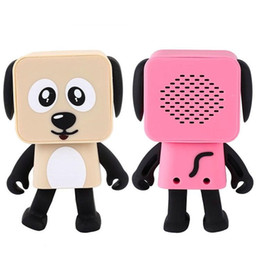 Wholesale Kids Mini Music Player - Mini Dancing Dog Bluetooth Speakers Portable Wireless Subwoofer Stereo Music Player For Kids With Mic Retail Box Wireless Speakers DHL Free