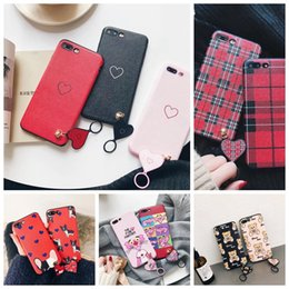 Wholesale Panther Cover - New Soft Silk Pattern TPU Phone Cases For iPhone X 10 Case For iPhone 6S 6 7 8 Plus IPX IX Back Cover Fashion Cute Love Heart Panther Bear