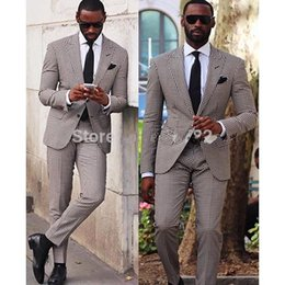Wholesale wool slim tie - Custom Made Slim Fit Two Button Groom Tuxedos Men Party Groomsmen Suits in Wedding Tuxedos((Jacket+Pants+tie ) NO;313