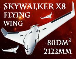 x plano Desconto Versão mais recente Skywalker Branco X8 Avião FPV Asa Voadora 2122mm RC Plane Nova Chegada 2 Metros x-8 EPO Grande Brinquedo de Controle Remoto