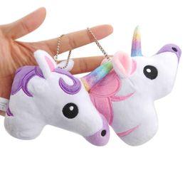 "Wholesale Game Horse - Top New 2 Styles 4"" 10CM Unicorn Horse Plush Doll Anime Soft Dolls Keychains Pendants Gifts Stuffed Toys"