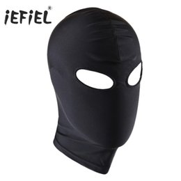 unisex costume lingerie Coupons - bondage hood Unisex Lingerie Headgear Mask Hood Bondage Role Play Costume Party 4 Styles for Lingerie Night Black Mask for Men Adult