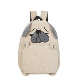 Sac à dos de chien et de renard en toile conçu Homme Sac de cartable en forme d'homme et de femme mignon avec sac à dos de voyage à broderie animale ? partir de fabricateur