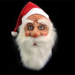 chapéus do natal do divertimento Desconto Moda Red Fun Cosplay Chapéu de Papai Noel Suprimentos Festival de Borracha Máscaras Máscara de Presente Feliz Natal Fácil de Usar 48lx aa