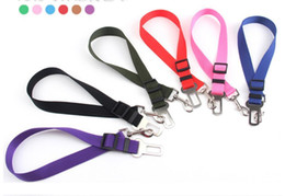 Wholesale Chain Restraints - New Dog Pet Car Safety Seat Belt Harness Restraint Lead Adjustable Leash Travel Clip Dog Seat Belt for All Cars High Quality
