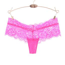 e008ae603b39 Full Lace Women Sexy Panties Low Waist Hollow Transparent Panties Underwear  Ladies G String Thongs Fashion Cute Thong
