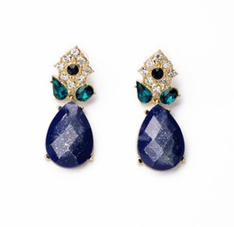 Элегантные сапфировые капли воды Diamond Ladies Earrings Персонализированные Wild Cool Популярные высококачественные серьги из ювелирных изделий New от Поставщики элегантные бриллиантовые украшения