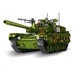 Wholesale Wooden Military Toys - 632002 1339pcs Tank World Military War Weapon Type 99 Tank Building Blocks Sets Models Educational Toys lepin