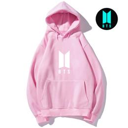 Magliette luminose online-Luminous BTS hoodie k pop Bangtan Boys felpa da donna felpa uomo album jungkook v suga k-pop Kpop vestiti pullover