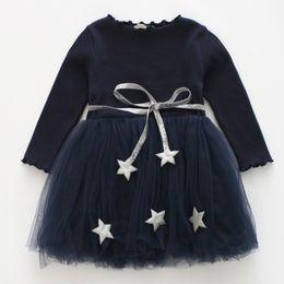 2019 vestidos de estilo princesa para meninas 2018 primavera estilo bonito meninas vestem crianças outono inverno roupas menina na altura do joelho vestido de festa princesa vestidos de estilo princesa para meninas barato