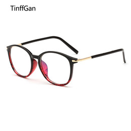 6420d6cd938 TinffGan New Retro Big frame decoration Eyeglasses Frames Men Women PC  Optical Plain Mirror Eye Glasses Frame for Myopia Glasses