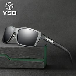 c2e4f73536b2 YSO Sunglasses Men Polarized UV400 Aluminium Magnesium Frame TAC Lens Sun Glasses  Driving Glasses Square Accessory For Men 8554