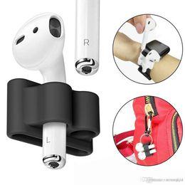 Estuche Portátil Anti-perdido de la correa del sostenedor del silicón para los auriculares Apple AirPod Auriculares desde fabricantes