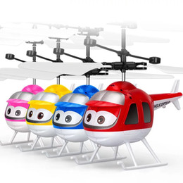 Wholesale rc 16 - 16 kinds of style Induction vehicle Infrared senso Flying RC Flying Ball Infrared Sense Induction Mini Aircraft Flashing Light Toys for Kids
