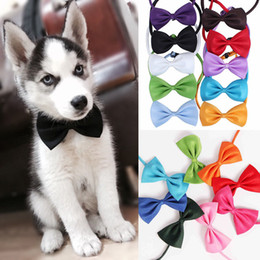 Wholesale wholesale bow ties for dogs - Dog Tie Adjustable Pet Grooming Elegant Bowknot Dog Puppy Cat Necktie Bow Tie For Small Pet Clothes Dog Grooming FFA308
