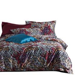 Biancheria da letto di mare online-100S Sea Island Coon Digital Print Luxury Royal Bedding Set 4 Pz King Queen Size Lenzuolo di nozze Set Copripiumino Federe