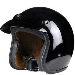 kernhelm Rabatt Der Core Vintage Open-Face Helm hat das Aussehen eines traditionellen 3/4-Helmes, wie er auch in 'Easy Rider' Gloss black getragen wird
