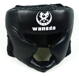 fighting training gear Coupons - Good Black Boxing Training Sanda Protective Gear Helmet Enclosed Helmet Mma Ufc Muay Thai Fighting Protective Gear Guard Head