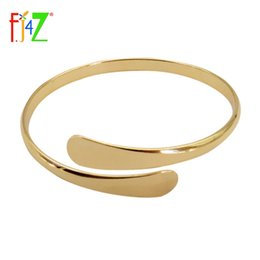 Wholesale golden silver cuff bangle bracelet - whole sale2015 fashion brand designer golden silver copper metal simplicity adjustable cuff bangle bracelet for women pulseiras
