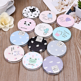 siding tools Promo Codes - Creative ladies makeup mirror portable folding gift mirror free double sided mirror circle small beauty tool