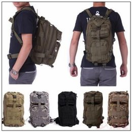Wholesale Wholesale Tactical Molle - 12 Colors 30L Hiking Camping Bag Military Tactical Trekking Rucksack Backpack Camouflage Molle Rucksacks Attack Backpacks CCA9054 60pcs