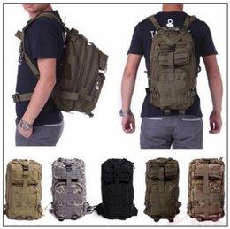 Wholesale Military Tactical Rucksack Backpack - 12 Colors 30L Hiking Camping Bag Military Tactical Trekking Rucksack Backpack Camouflage Molle Rucksacks Attack Backpacks CCA9054 60pcs
