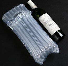 Sacs de calage en Ligne-32 * 8cm Air Dunnage Bag Air Rempli Air De Protection Bouteille De Vin Enveloppe Coussin D'air Gonflable Colonne Sacs D'emballage avec une pompe gratuite