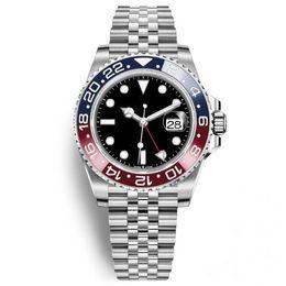 Argentina 2019 Nueva llegada Reloj para hombre Reloj Pepsi GMT Movimiento automático Cerámica Bisel Zafiro 40 MM Dial Jubilee Reloj para hombre Reloj masculino Suministro