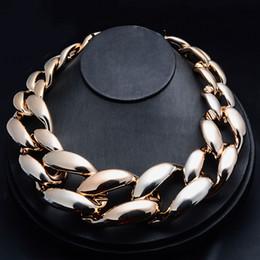 Acryl kettenglieder online-MISANANRYNE Fashion Statement Schmuck Choker Halskette Kunststoff Acryl Links Kette Halskette Frauen Maxi 8 farben