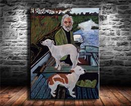 2019 quadros de cachorro Cão De Goodfellas, 1 Pcs Cópias Da Lona Arte Da Parede Pintura A Óleo Decoração de Casa / (Sem Moldura / Emoldurado) desconto quadros de cachorro