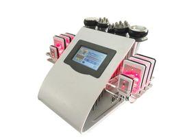 Equipamento de lipoaspiração ultra-sônica máquina de emagrecimento on-line-Alta Qualidade 40k Ultrasonic lipoaspiração Cavitação 8 Almofadas LLLT lipo Máquina de Emagrecimento Do Vácuo RF Cuidados Com A Pele do Salão de Beleza Spa Uso Equipamentos