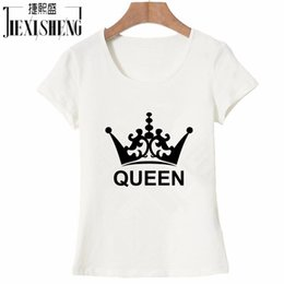 5aee075abd Women's Tee Newest Fashion Queen Imperial Crown Print Women Summer T Shirt  Solid Short Sleeve Cotton Round Neck Top Tees