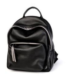 Moda donna zaini 2018 vera pelle ragazze borse da scuola colore nero  femminile all aperto viaggio vacanze fuori borsa tracolla zaino 7132728e537